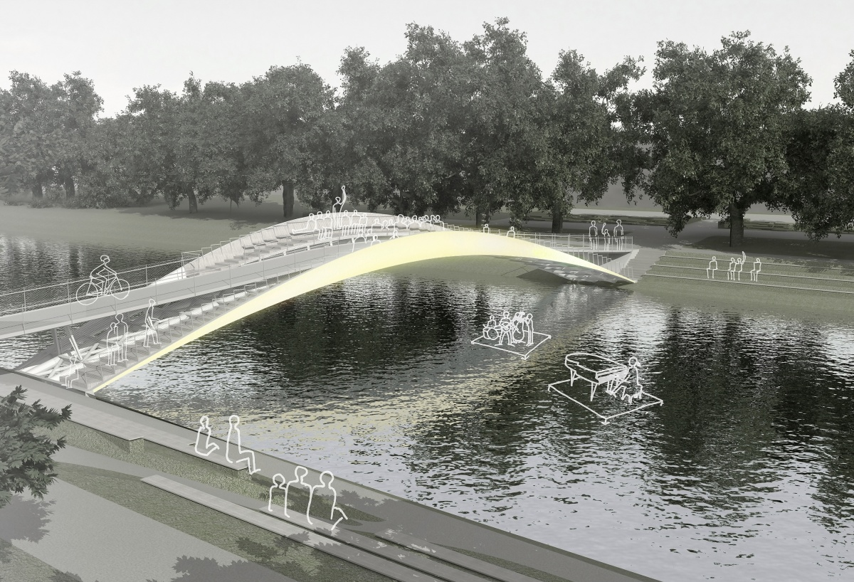 Most přes Labe, Hradec Králové